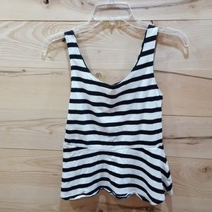 Fit and Flare Zip Back Tank.by Express